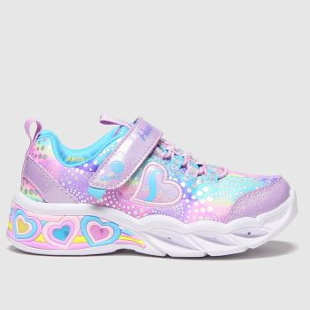 SKECHERS Multi Sweetheart Lights Girls Junior