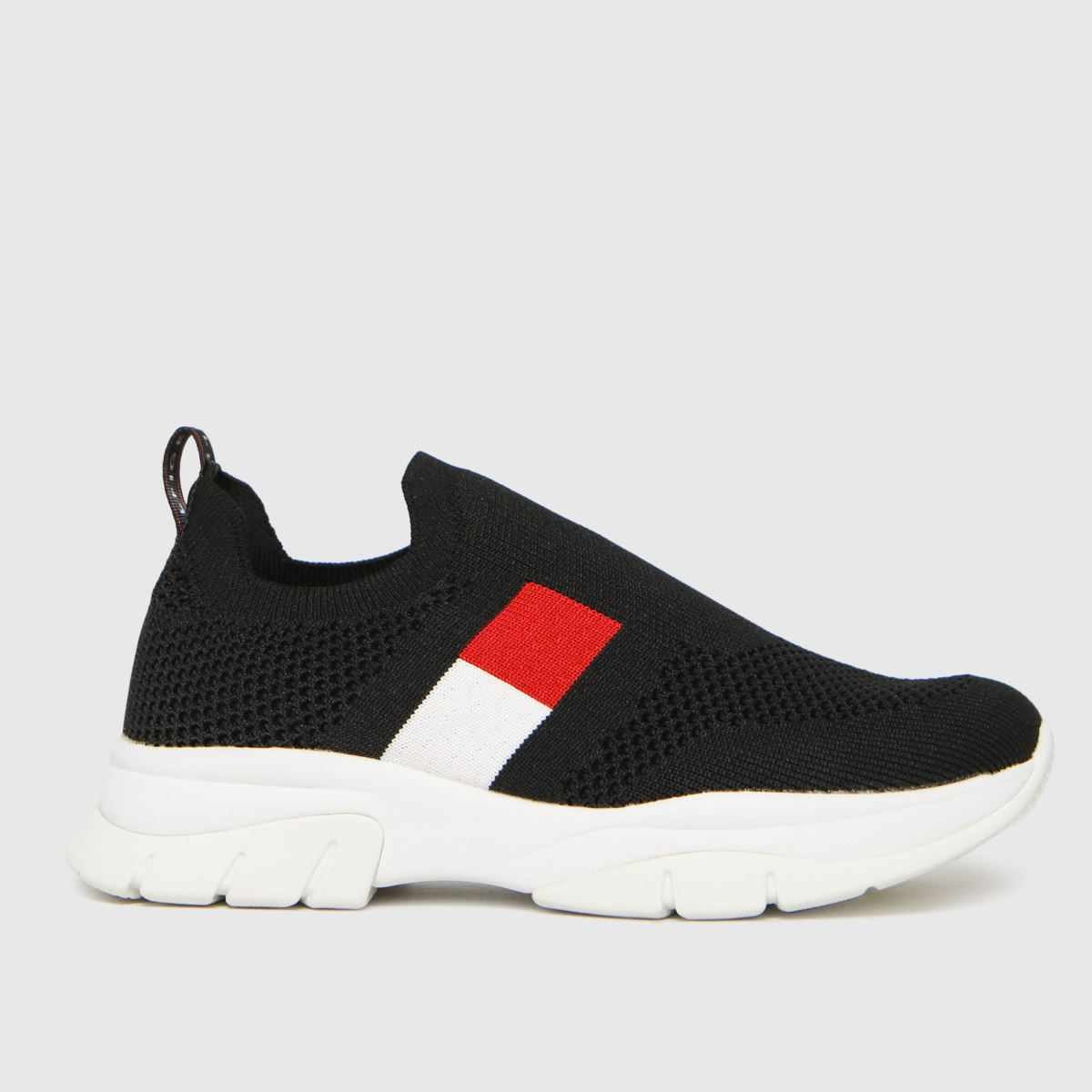 Tommy Hilfiger Black & Red Low Cut Sneaker Trainers Junior