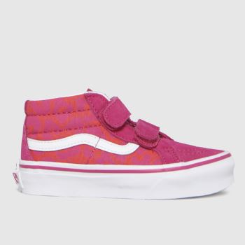Vans Pink Sk8-mid Reissue V Girls Junior
