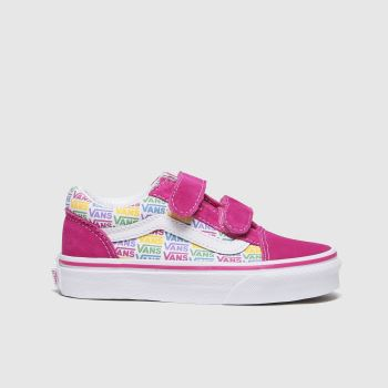 Vans Pink Old Skool V Girls Junior#