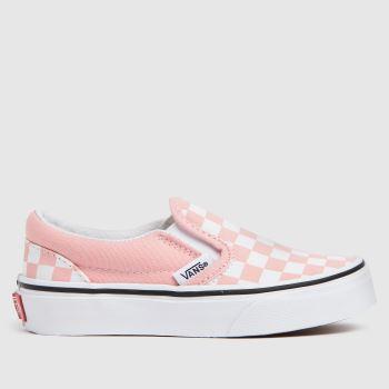 Vans White & Pink Classic Slip-on Girls Junior