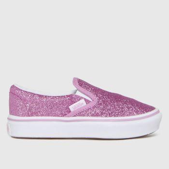Vans Pink Comfycush Slip-on Girls Junior