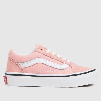 Vans Pale Pink Old Skool Girls Junior