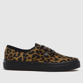 Vans Brown & Black Authentic Leopard Girls Junior