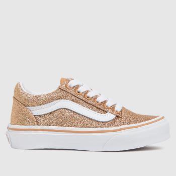 Vans Gold Old Skool Glitter Girls Junior