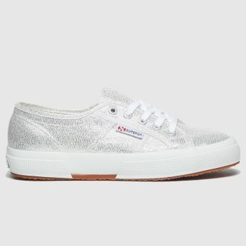 Superga Silver 2750 Lame Girls Junior