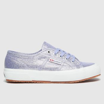 Superga Purple 2750 Lame Girls Junior