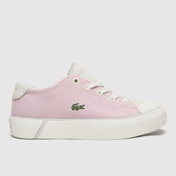 Lacoste White & Pink Gripshot Girls Junior