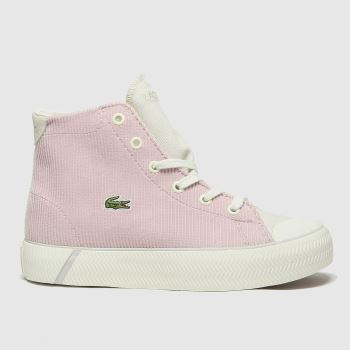 Lacoste White & Pink Gripshot Mid Girls Junior