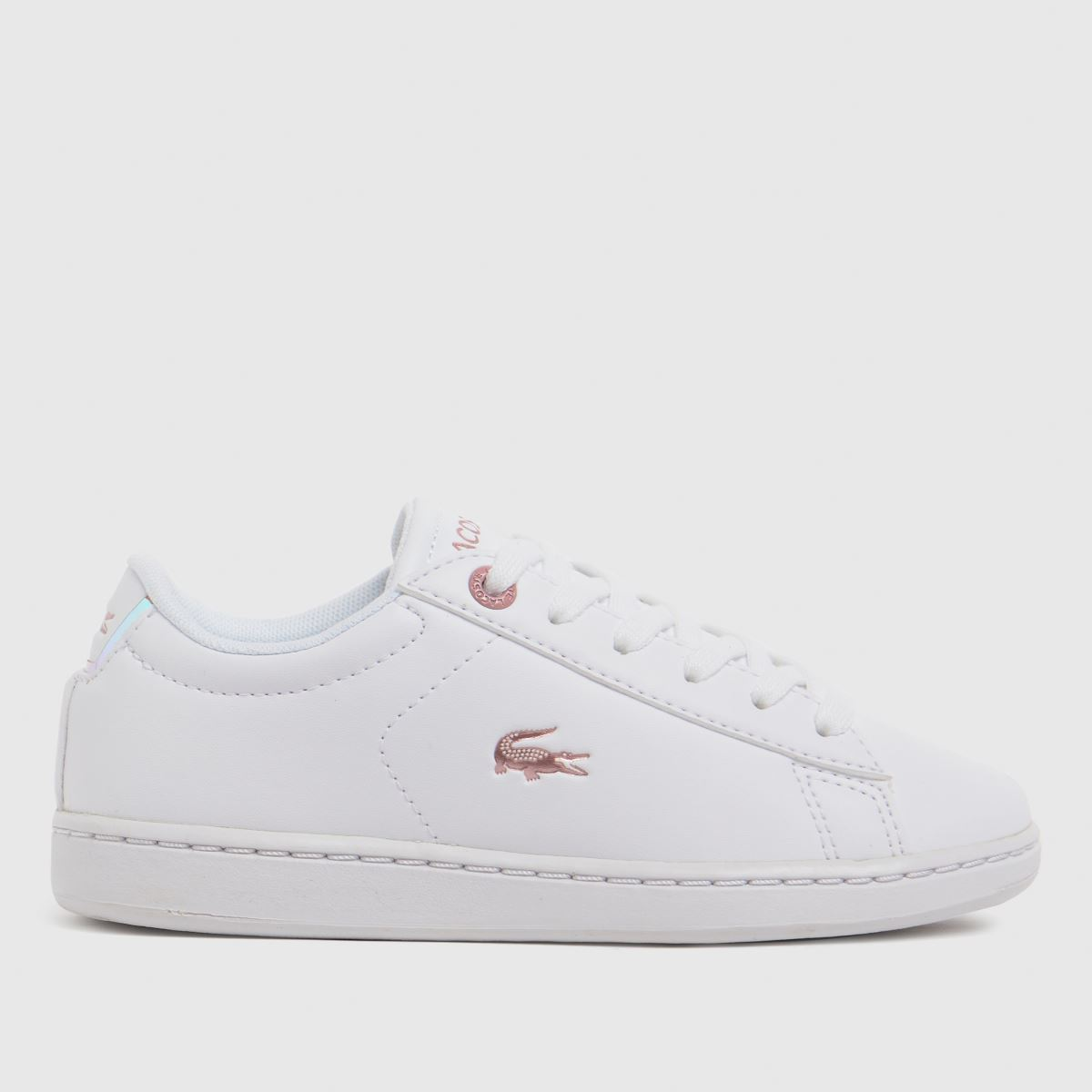 Lacoste White Carnaby Evo Trainers Junior