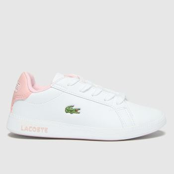 Lacoste White & Pink Graduate Girls Junior