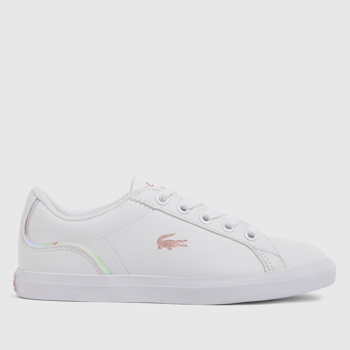 Lacoste White & Pink Lerond Trainers Junior