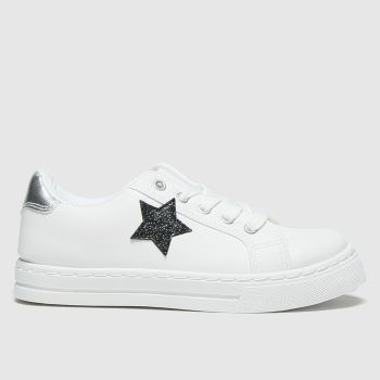 schuh White & Black Constellation Lace Up Girls Junior