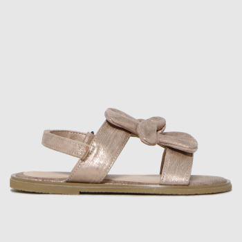 schuh Bronze Treasure Bow Sandal Girls Junior