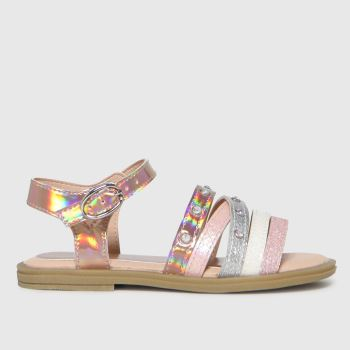 schuh Bronze Tiara Metallic Strap Girls Junior