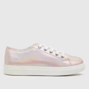 schuh Pale Pink Majesty Scallop Lace Up Girls Junior