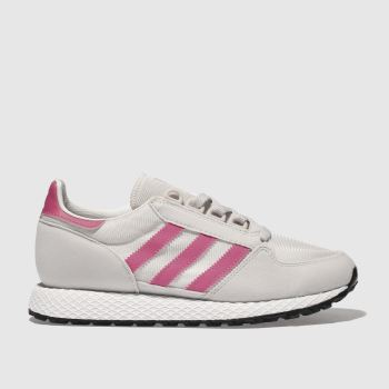 Adidas Light Grey & Pink Forest Grove Girls Youth