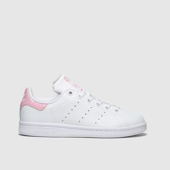 adidas White & Pink Adi Stan Smith Girls Youth