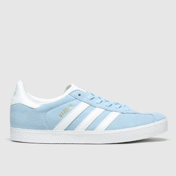 adidas Pale Blue Gazelle Girls Youth