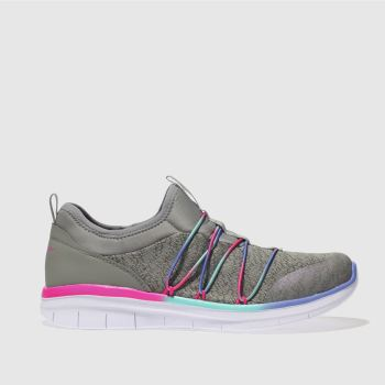 SKECHERS GREY SYNERGY 2.0 TRAINERS YOUTH