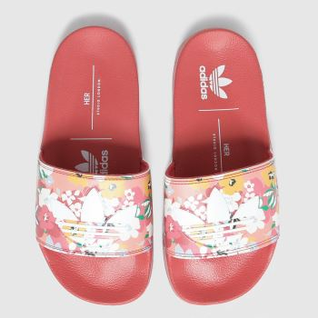 adidas Red Adilette Lite Girls Youth