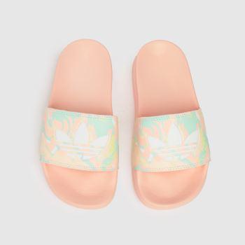 adidas Pale Pink Adilette Lite Girls Youth