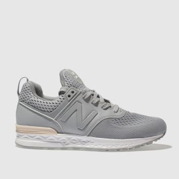 New Balance Grey 574 Sport Girls Youth
