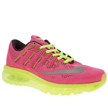 NIKE PINK & BLACK AIR MAX 2016 GIRLS YOUTH TRAINERS