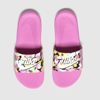 Nike Pink & Black Kawa Slide Se Girls Youth