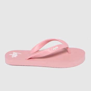 Hype Pale Pink Flip Flops Girls Youth