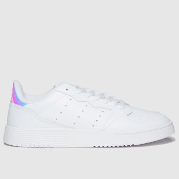 adidas White & Silver Supercourt Girls Youth