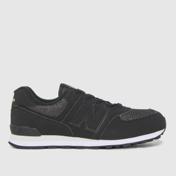 New balance Black 574 Girls Youth