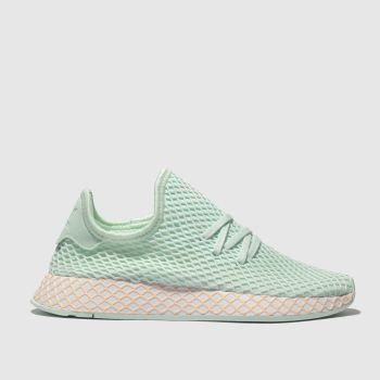 Adidas Light Green Deerupt Runner Girls Youth