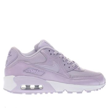 Girls lilac nike air max 90 mesh yth trainers  53723ff18