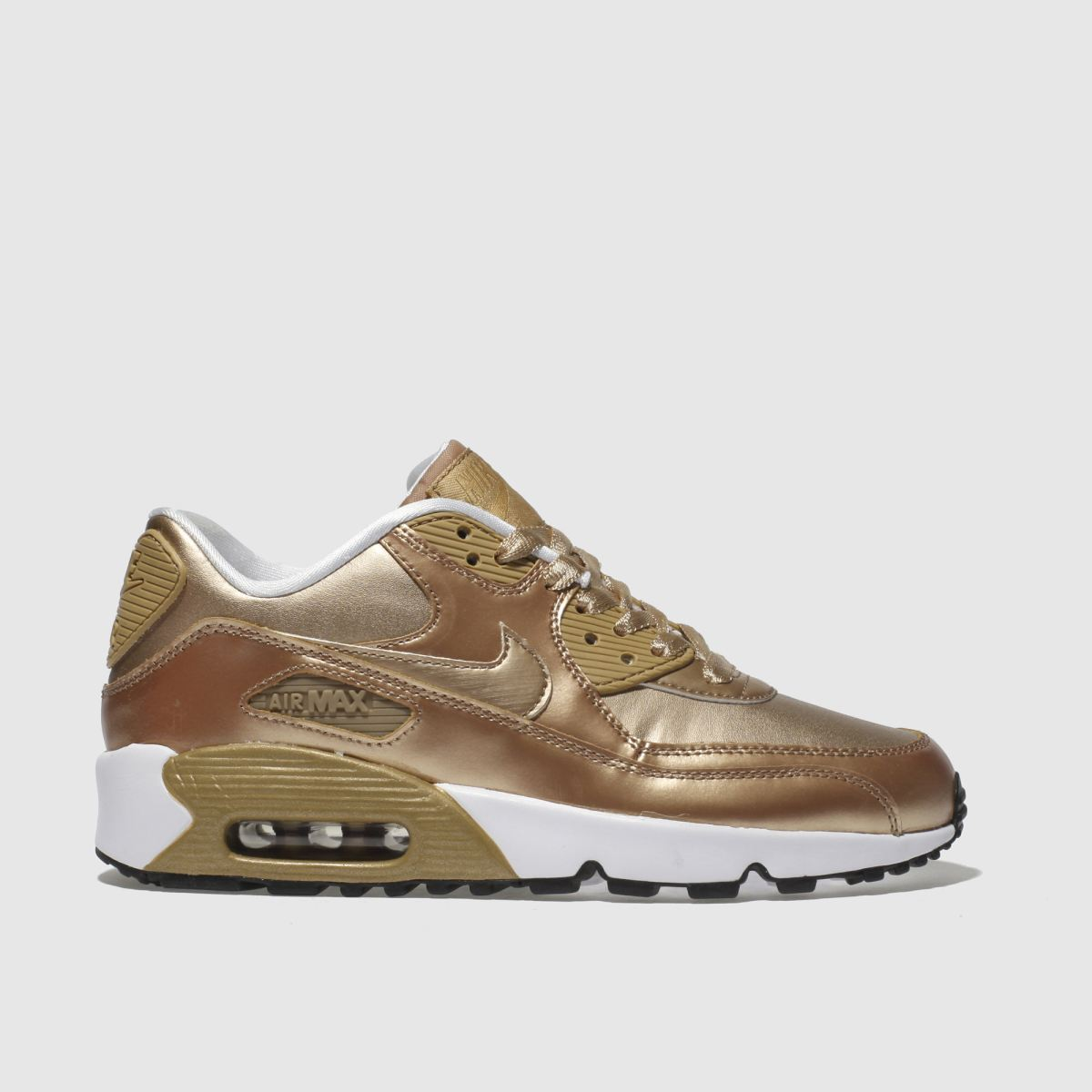 Nike Air Max 90 Leather Girls Trainers Gold