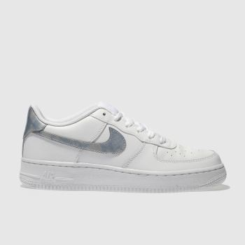 Nike White & Blue AIR FORCE 1 Girls Youth
