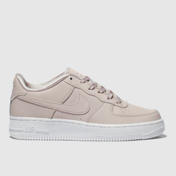 Girls pale pink nike air force 1 ss trainers  63c60c1a3