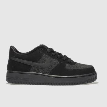 Nike Black Air Force 1 Lv8 Girls Youth
