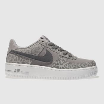 Nike Grey AIR FORCE 1 Girls Youth