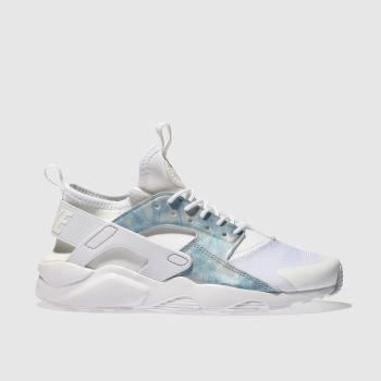 Nike White & Pl Blue HUARACHE RUN ULTRA Girls Youth