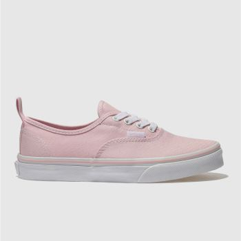 VANS PALE PINK AUTHENTIC GIRLS YOUTH TRAINERS