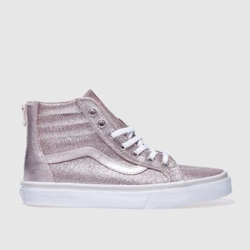 e38b89ce74b Girls gold vans sk8-hi zip trainers