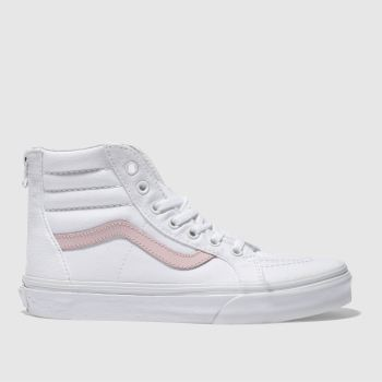 Vans White Sk8-Hi Zip Girls Youth