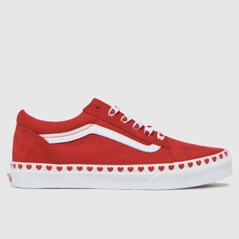 Vans Red Old Skool Girls Youth