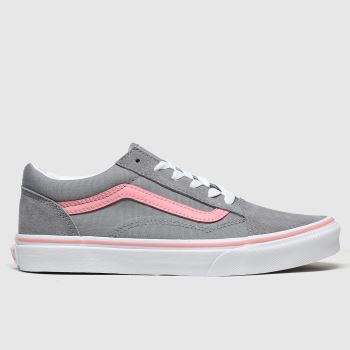 Vans Grey Old Skool Girls Youth