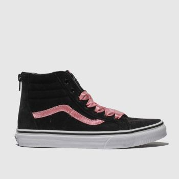 Vans Black & pink Sk8-Hi Zip Girls Youth
