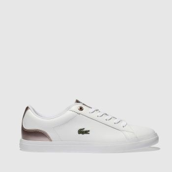 Lacoste White & Pink Lerond Girls Youth