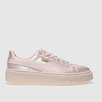 Puma Pink Basket Platform Tween Girls Youth