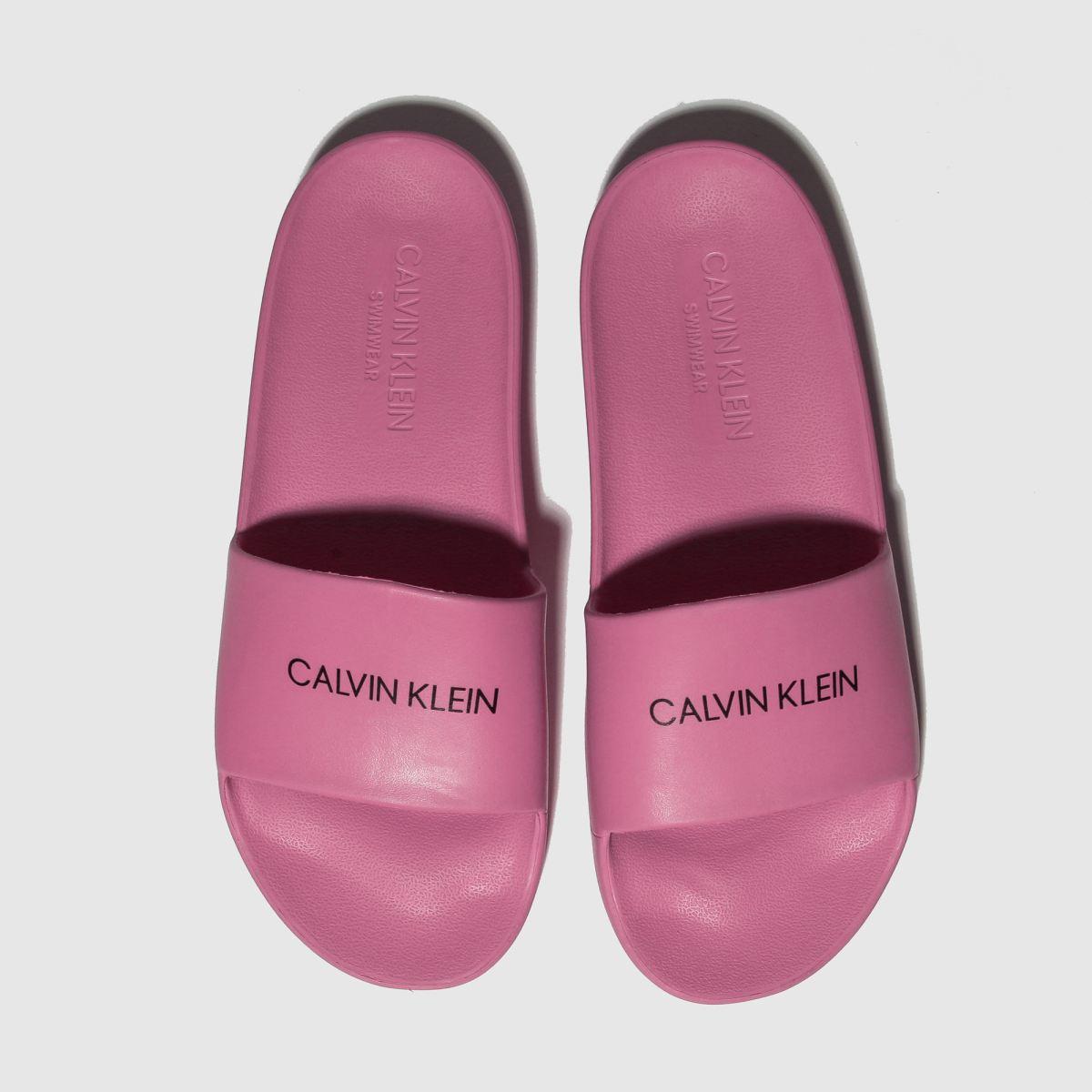 Calvin Klein Pink Slides Sandals Youth