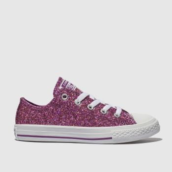 Converse Purple All Star Ox Glitter Girls Youth